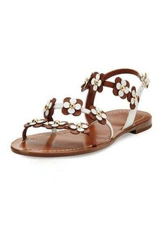 kate spade new york colorado floral leather flat sandal