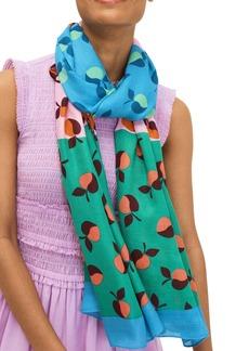 kate spade new york colorblock apples scarf