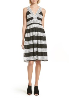 kate spade new york colorblock lace sundress