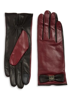 Kate Spade New York Colorblock Leather Tech-Friendly Gloves