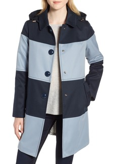 kate spade new york colorblock raincoat