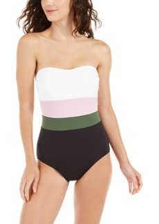 kate spade new york Colorblocked Strapless One-Piece Swimsuit Women's Swimsuit