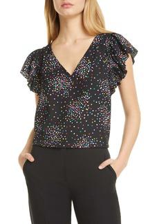 kate spade new york confetti cheer blouse