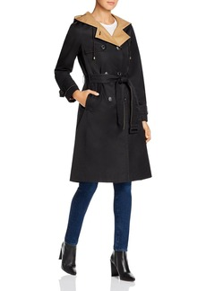 kate spade new york Contrast-Lined Trench Coat