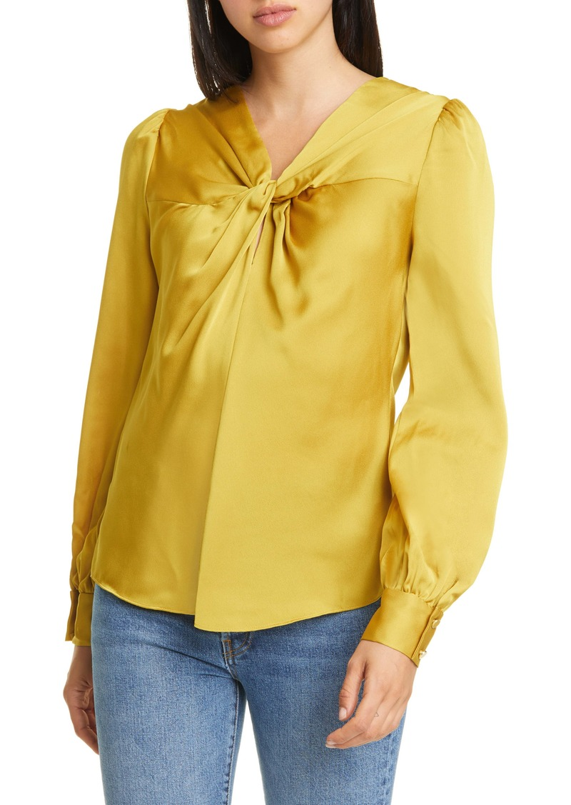 kate spade new york convertible twist neck top