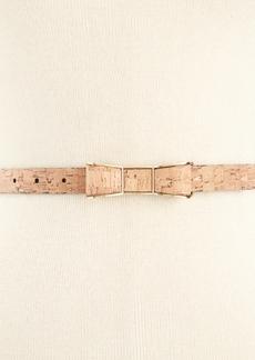 kate spade new york Cork-Print Bow Buckle Skinny Belt
