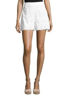 Kate Spade cotton high-rise eyelet shorts