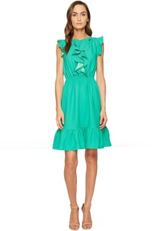Kate Spade New York Crepe Ruffle Dress
