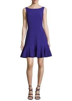kate spade new york crepe sleeveless flounce dress