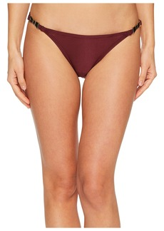 Kate Spade Crescent Bay #74 Shirred Bikini Bottom w/ Bow Hardware