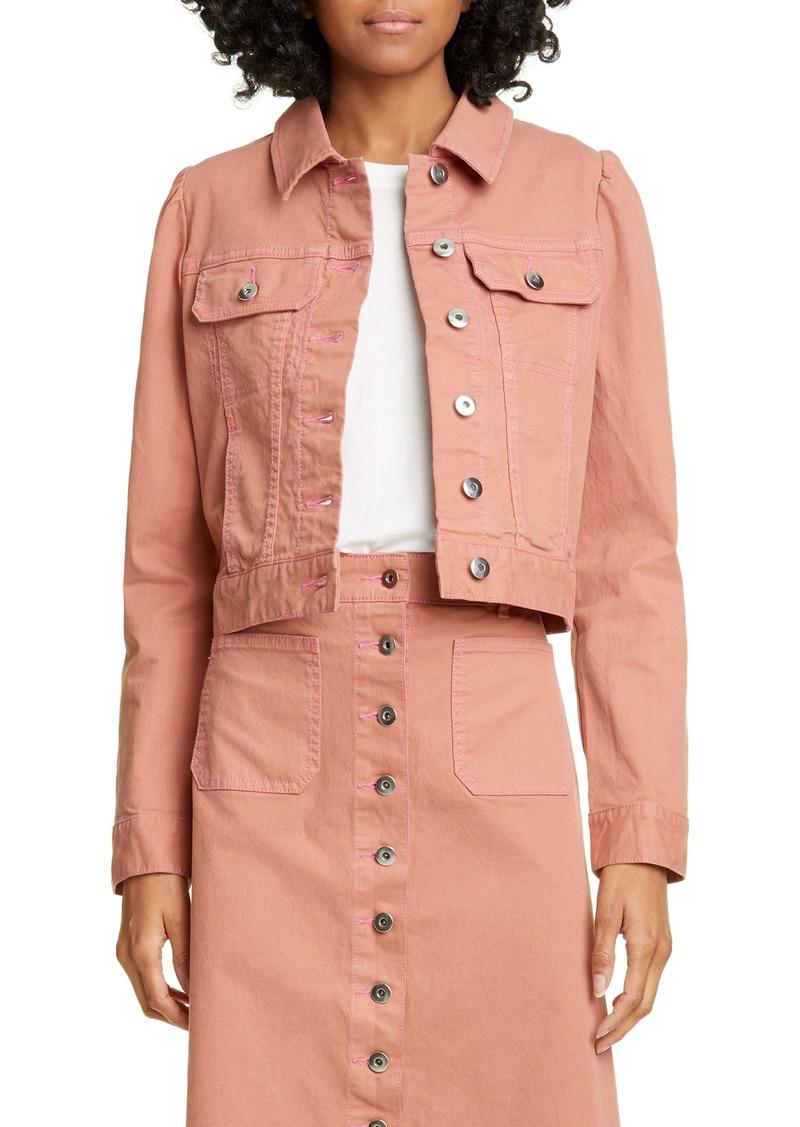 kate spade new york crop denim jacket