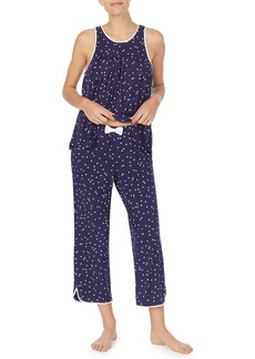 kate spade new york crop jersey pajamas