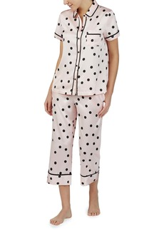 kate spade new york crop pajamas