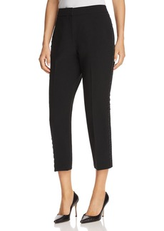 kate spade new york Cropped Lace-Trimmed Cigarette Pants