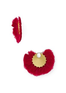 kate spade new york Crystal & Feather Statement Earrings