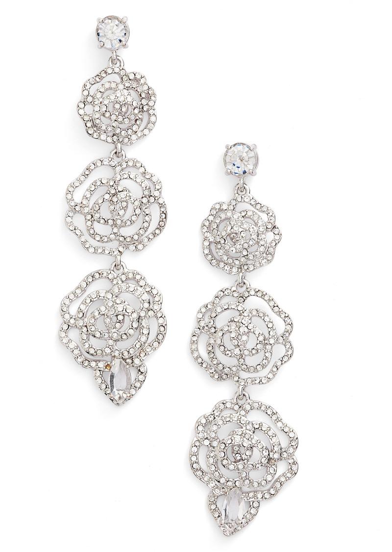 Kate Spade New York Crystal Rose Drop Earrings