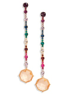 kate spade new york crystal statement linear drop earrings