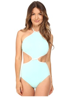 Kate Spade New York Cut Out High Neck Maillot