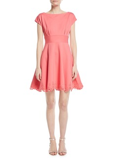 Kate Spade cutwork fiorella eyelet-trim dress