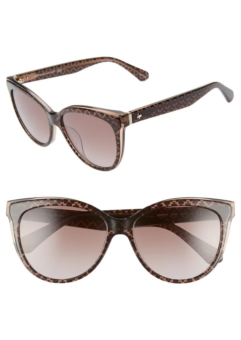 kate spade new york daeshas 56mm cat eye sunglasses