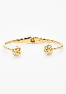 kate spade new york 'dainty sparklers' knot hinged cuff