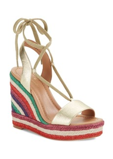 Kate Spade New York Daisy Too Leather Espadrille Wedge Sandals