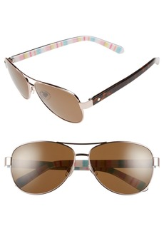 kate spade new york 'dalia' 58mm polarized aviator sunglasses