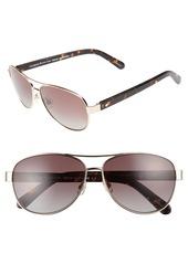 kate spade new york 'dalia' 58mm polarized aviator sunglasses