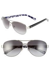 kate spade new york 'dalia2' 58mm aviator sunglasses