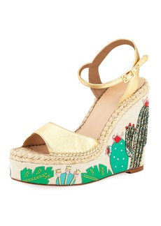 kate spade new york dallas cactus platform wedge sandal