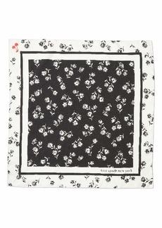 kate spade new york dandelion floral silk bandana scarf
