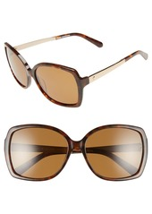kate spade new york 'darilynn' 58mm polarized sunglasses