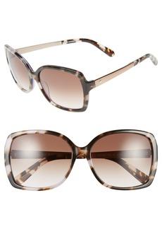 kate spade new york 'darrilyn' 58mm butterfly sunglasses