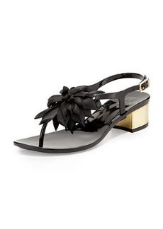 kate spade new york davina flower jelly low-heel thong sandal