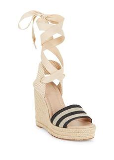 Kate Spade New York Delano Canvas Espadrille Wedge Sandals