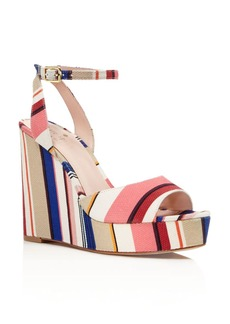 kate spade new york Dellie Striped Platform Wedge Sandals