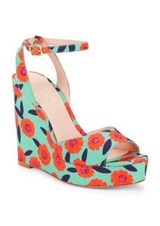 Kate Spade New York Dellie Textile Platform Wedge Sandals