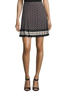 kate spade new york diamond pleated mini skirt