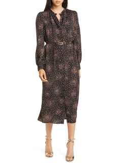 kate spade new york disco dots long sleeve midi dress