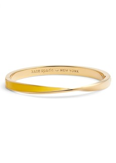 kate spade new york do the twist enamel hinge bangle