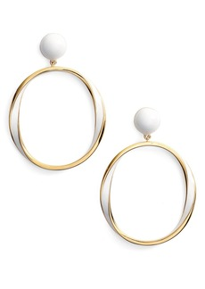 kate spade new york do the twist hoop earrings