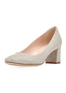 kate spade new york dolores metallic mid-heel pump