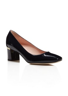 kate spade new york Dolores Too Patent Leather Mid Heel Pumps