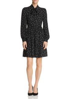 kate spade new york Dot-Print Tie-Neck Shirt Dress