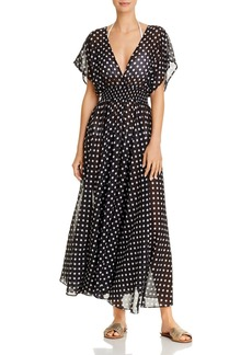 kate spade new york Dotted Maxi Dress Swim Cover-Up
