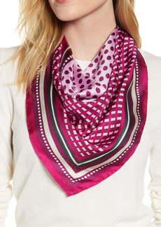 kate spade new york dotty stripe square silk scarf