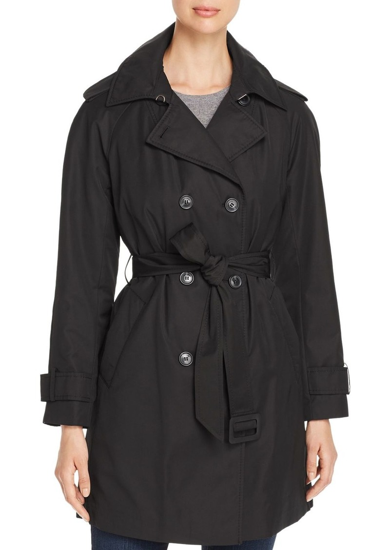 kate spade new york Double-Breasted Gabardine Trench Coat