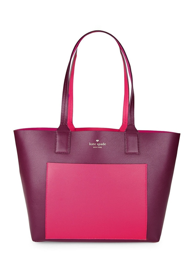 KATE SPADE NEW YORK Double-Faced Pebbled Leather Tote
