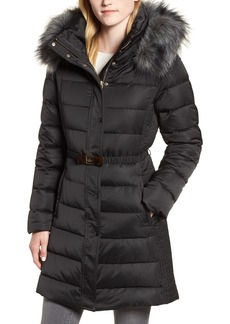 kate spade new york down & feather belted coat