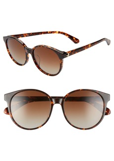 kate spade new york eliza 55mm polarized round sunglasses